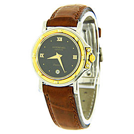 Raymond Weil 9989 Parsifal Two-tone Brown Leather Band Watch