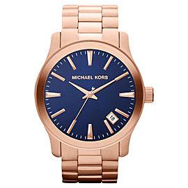 Michael Kors MK7065 Runway Rose Gold-tone Blue Dial Men's Watch