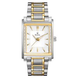 Bulova 98E111 Diamond Case Mens Watch