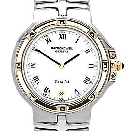 Raymond Weil 9188/WR White Dial Gold Bezel Stainless Steel Womens Watch