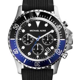 Michael Kors MK8365 Everest Black Dial Silicone Strap Men's Watch