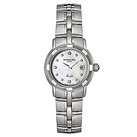 Raymond Weil Parsifal 9441-ST-97081 Stainless Steel Mother Of Pearl and Diamond Quartz 27mm Watch