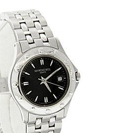 Raymond Weil 5390 Tango Black Date Dial Stainless Steel Quartz Womens Watch
