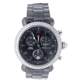 Michele MWW03N000003 Black Ceramic Chronograph Diamond Womens Watch