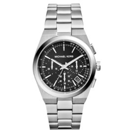 Michael Kors MK6054 Chronograph Channing Black Dial Stainless Steel Mens Watch