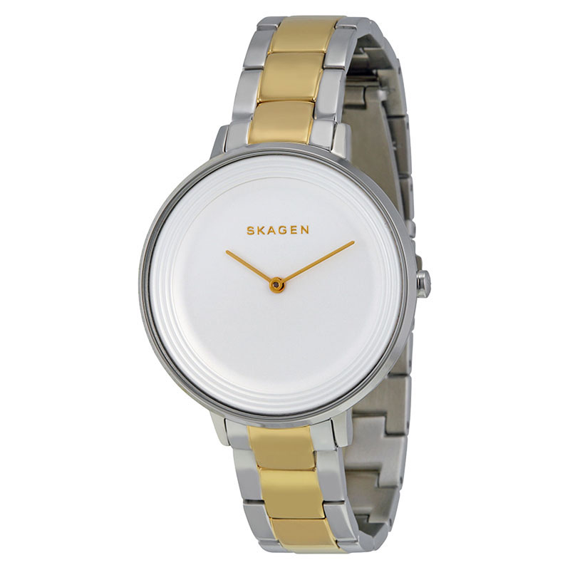 """Image of """"Skagen Skw2339 Ditte Silver Dial Two Tone Stainless Steel Women's"""""""