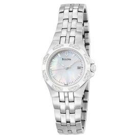 Bulova 96R126 Mother of Pearl Dial Diamond Case Bracelet Women's Watch
