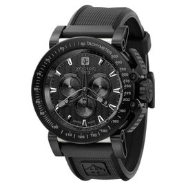 Zodiac ZO8516 ZMX Racer Chronograph Analog Display Swiss Quartz Black Mens Watch