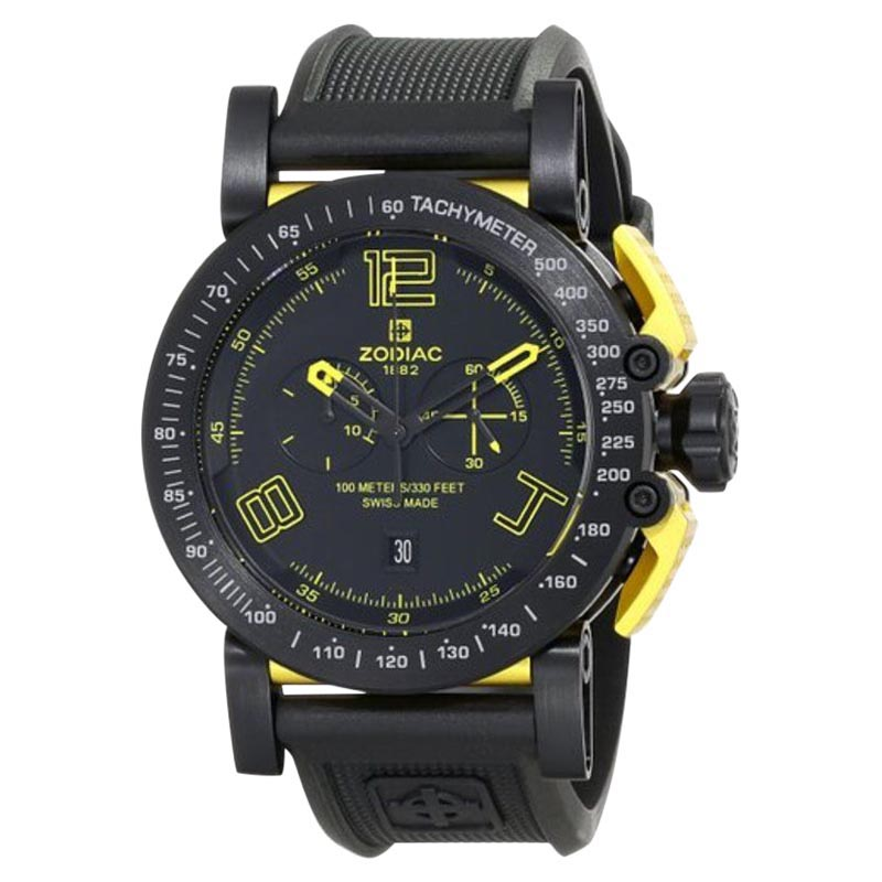 """""Zodiac ZMX Zo8555 Racer Analog Display Swiss Quartz Black Mens Watch"""""" 578963"