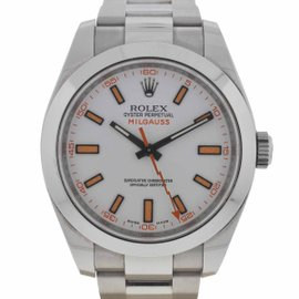 Rolex Milgauss 116400 V Stainless Steel White Dial 40mm Watch