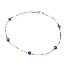 Tiffany & Co. Elsa Peretti Color By The Yard Platinum Blue Sapphire Bracelet