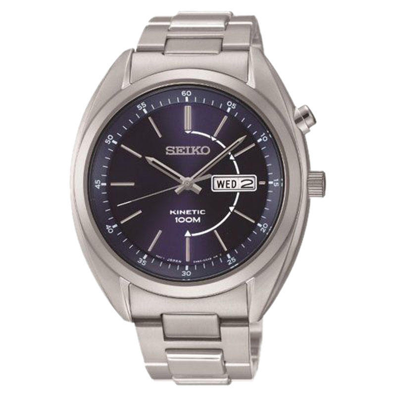 "Image of ""Seiko Smy121 Stainless Steel Kinetic Men's Watch"""