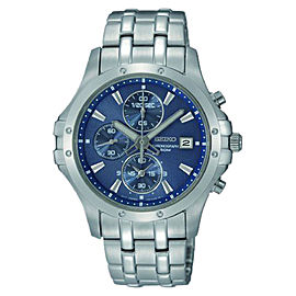 Seiko SNDC97 Stainless Steel Analog with Blue Dial Men's Watch
