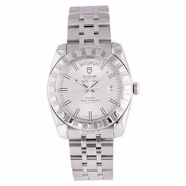 Tudor Date & Day 23010 Stainless Steel Silver Dial Automatic Mens Watch