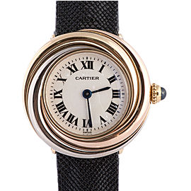 Cartier Trinity 2357 Three-tone 18K Gold Bezel Quartz Womens Swiss Luxury Watch