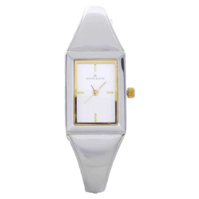 "Image of ""Anne Klein 10/5463 Silver Tone Metal Gold Accented Dial Womens Watch"""