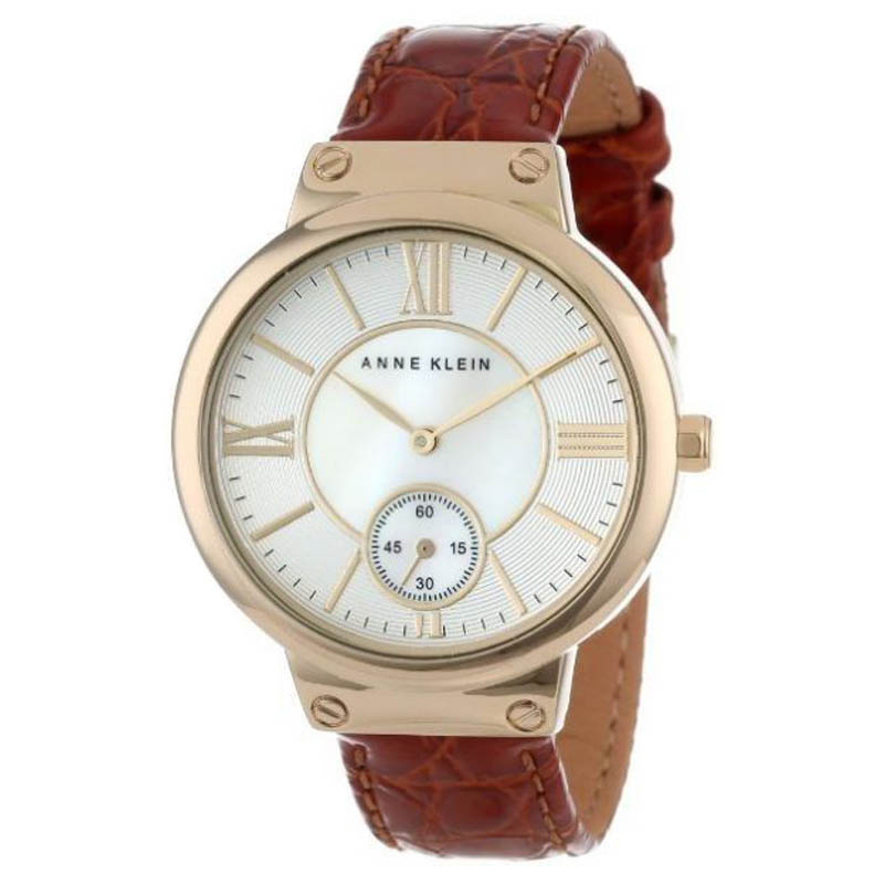 "Image of ""Anne Klein Ak/1400Mphy Gold-Tone Stainless Steel Leather 36mm Watch"""