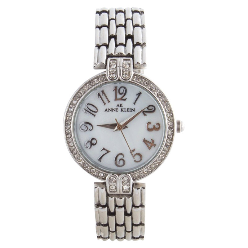 "Image of ""Anne Klein 10/9637 Stainless Steel Mother Of Pearl Dial Womens Watch"""