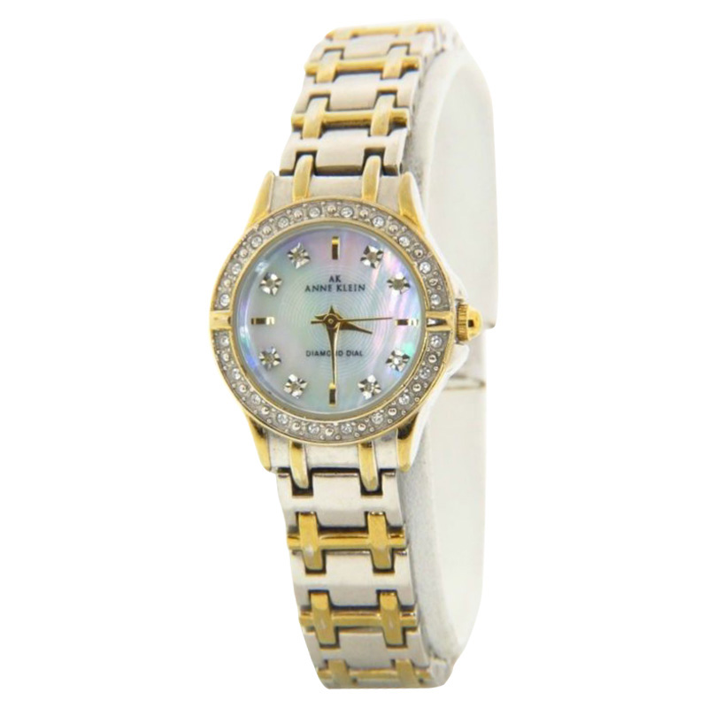 """Image of """"Anne Klein 10/9157 Two-Tone Stainless Steel & MOP 24mm Watch"""""""