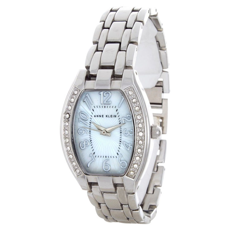 "Image of ""Anne Klein 10/9839Mpsv Stainless Steel & Mother Of Pearl 27mm Watch"""