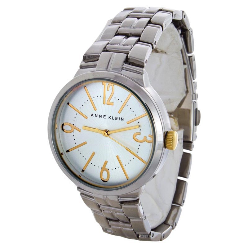 """Image of """"Anne Klein Ak/1651Svtt Silver Dial Stainless Steel Womens Watch"""""""