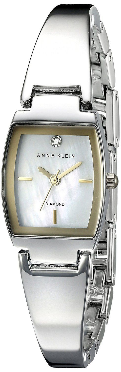 "Image of ""Anne Klein Ak/2083Svtt Silver Dial Metal Bracelet Womens Watch"""