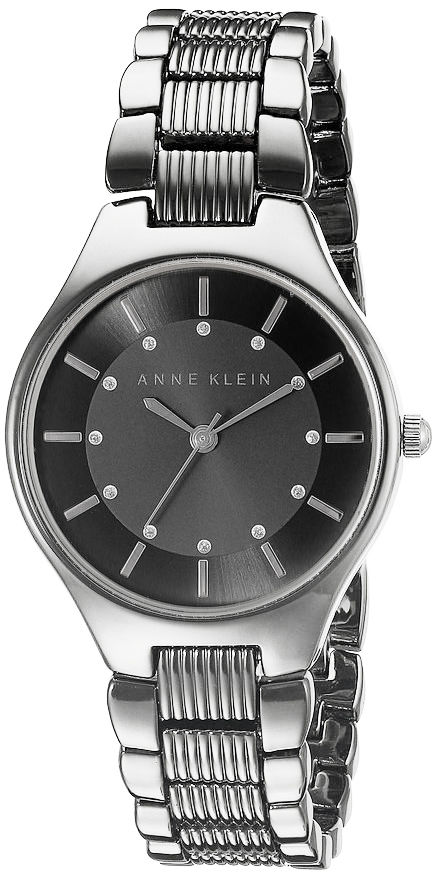 "Image of ""Anne Klein Ak/2067 Black Dial Silver Tone Metal Bracelet Womens Watch"""