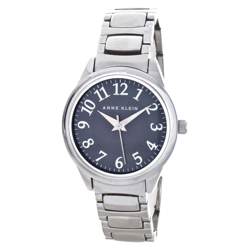 """Image of """"Anne Klein Ak/1603 Black Dial Stainless Steel Band Womens Watch"""""""