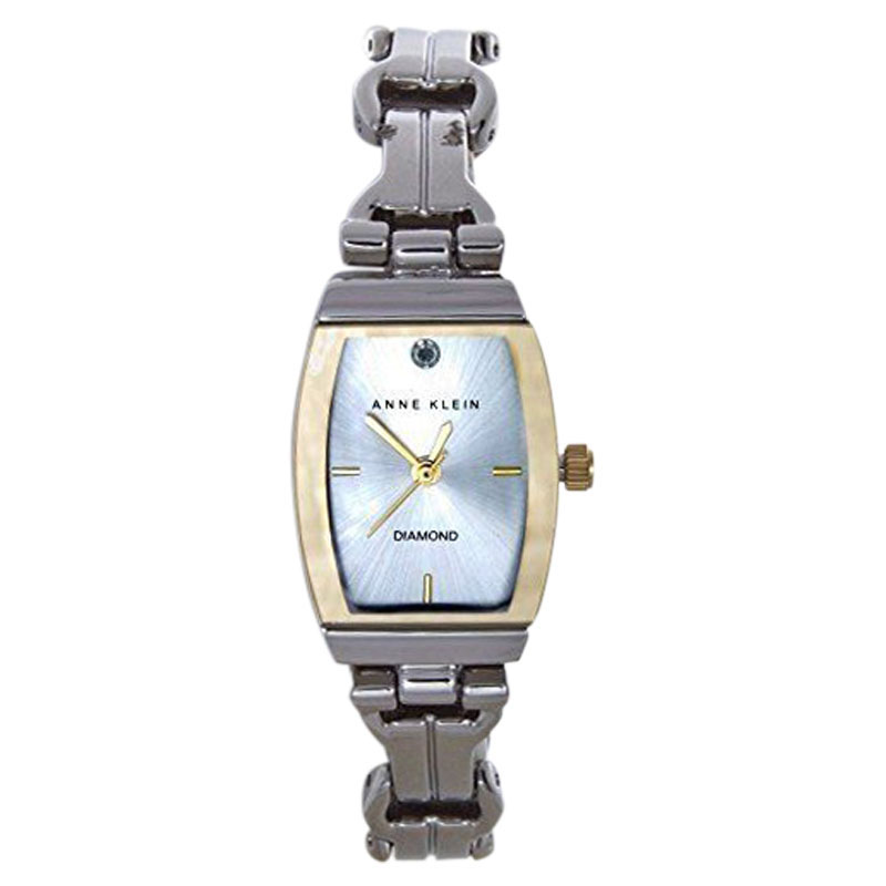 "Image of ""Anne Klein Ak/1573Svt Stainless Steel Elegant Silver Dial Bracelet"""