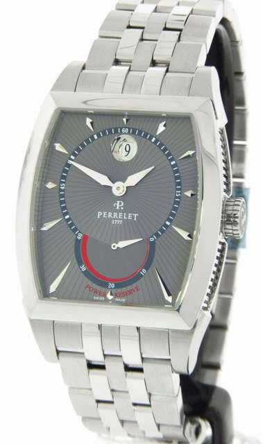 "Image of ""Perrelet A1017/b Power Reserve Stainless Steel Automatic Mens Watch"""
