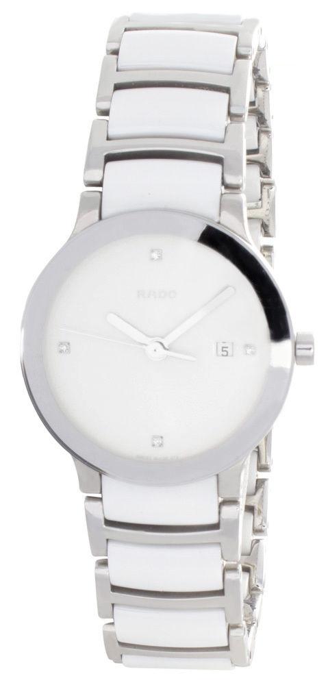 "Image of ""Rado 111.0928.3 White Dial Stainless Steel & White Ceramic Bracelet"""