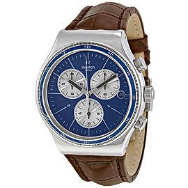 Swatch Destination London YVS410C Blue Dial Chronograph 42mm Watch