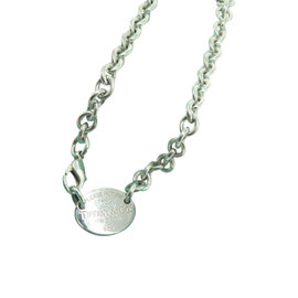 Tiffany & Co. Return To Tiffany 925 Sterling Silver Oval Tag Link Necklace