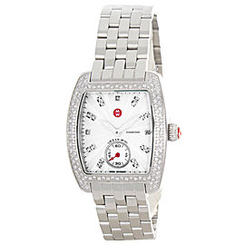 Michele Urban Mini MWW02A000508 Diamond Silver Dial Stainless Steel Bracelet Womens Watch