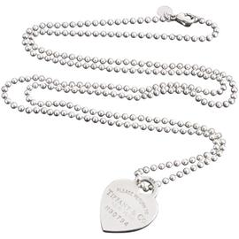 Tiffany & Co. Sterling Silver Heart Shaped Pendant Chain Necklace