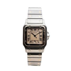 Cartier Santos Galbee 187901 Two-Tone 18K Gold & Stainless Steel Mens 30mm Watch
