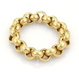 Tiffany & Co. 18k Yellow Gold Large Rolo Link Hefty Bracelet
