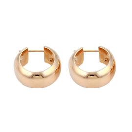 Roberto Coin 18k Rose Gold Puffed Round Hoop Earrings