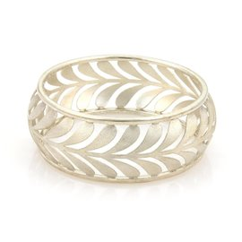 Tiffany & Co. 925 Sterling Silver Villa Paloma Wide Palm Bangle