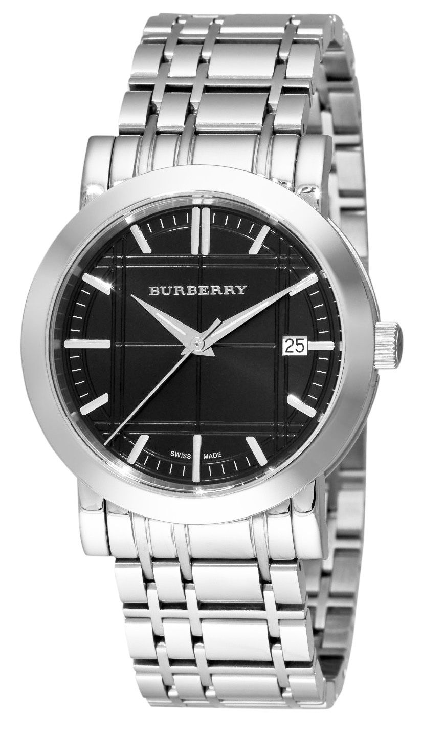 "Image of ""Burberry Bu1364 Black Dial Stainless Steel Bracelet Quartz 40mm Mens"""