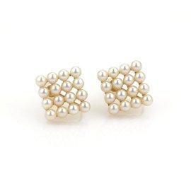 Mikimoto 18K Yellow Gold Akoya Pearls Screw Back Earrings