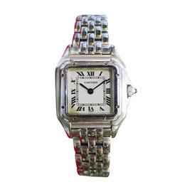 Cartier Panther 1320 Stainless Steel Roman Numeral Quartz 22mm Womens Watch