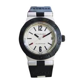 Bulgari Diagono AL32TA Aluminium & Rubber White Dial Quartz 32mm Unisex Watch