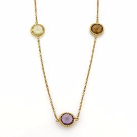 Roberto Coin Ipanema 18K Yellow Gold Amethyst and Quartz Necklace