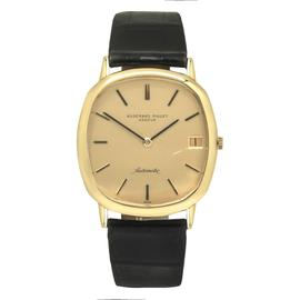 Audemars Piguet 18K Yellow Gold Leather Strap Automatic Vintage 32mm Mens Watch