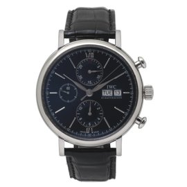 IWC Portofino Laureus IW391019 Automatic Day Date Blue Dial 42mm Mens Watch