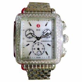 Michele Deco 71-6000 Stainless Steel & Diamond Quartz 33mm Womens Watch