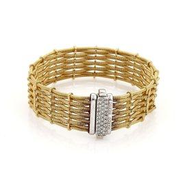 Marco Bicego 18K Two Tone Diamond Woven Bracelet