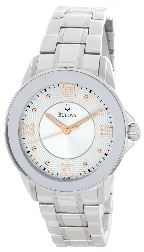 """Image of """"Bulova 96L172 Stainless Steel 34mm Womens Watch"""""""