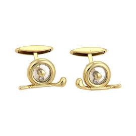 Chopard 18K Yellow Gold and 0.10ct Diamond Cufflinks